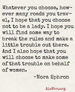 Less than Ladylike quote Nora